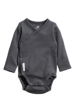 3-pack long-sleeved bodysuits - Dark grey - Kids | H&M CN 2