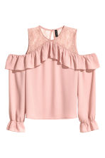 Cold shoulder blouse - Old rose - Ladies | H&M 2
