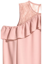 Cold shoulder blouse - Old rose - Ladies | H&M 3