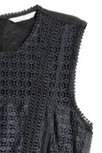 Maxi dress with lace - Black - Ladies | H&M CN 3