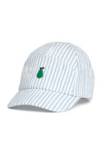 Cotton cap - Blue/White/Striped -  | H&M 1