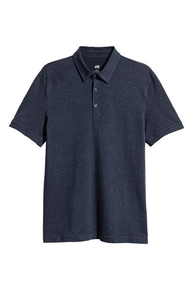 Polo - Slim fit - Donkerblauw gemêleerd - HEREN | H&M BE 1