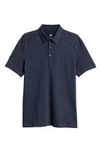 Polo shirt Slim Fit - Dark blue marl - Men | H&M 1