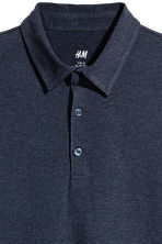 Polo shirt Slim Fit - Dark blue marl - Men | H&M 2