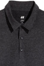 Polo shirt Slim Fit - Black/Narrow striped - Men | H&M 3