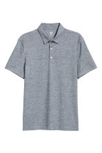 Polo shirt Slim Fit - Blue/Narrow striped - Men | H&M CN 2