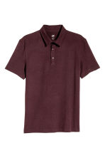 Polo shirt Slim Fit - Dark plum - Men | H&M 2