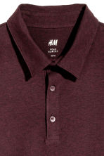 Polo shirt Slim Fit - Dark plum - Men | H&M 3