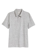 Polo shirt Slim Fit - Grey marl - Men | H&M 2