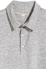 Polo shirt Slim Fit - Grey marl - Men | H&M 3