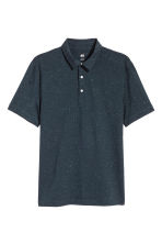 Polo shirt Slim Fit - Dark blue/Neps - Men | H&M 2