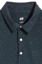 Polo shirt Slim Fit - Dark blue/Neps - Men | H&M 3