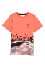 Printed T-shirt - Coral - Kids | H&M 2