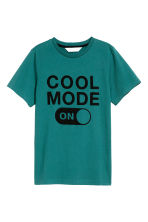 Printed T-shirt - Petrol green - Kids | H&M CN 2