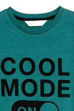 Printed T-shirt - Petrol green - Kids | H&M 3
