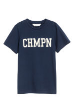 Printed T-shirt - Dark blue -  | H&M CA 2