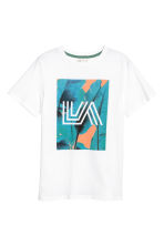 Printed T-shirt - White/Los Angeles - Kids | H&M CN 2