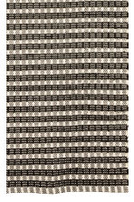 Jacquard-weave cotton rug - Natural white/Anthracite grey - Home All | H&M CN 2