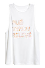 Yoga vest top - White - Ladies | H&M CN 2