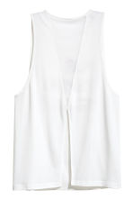 Yoga vest top - White - Ladies | H&M CN 3