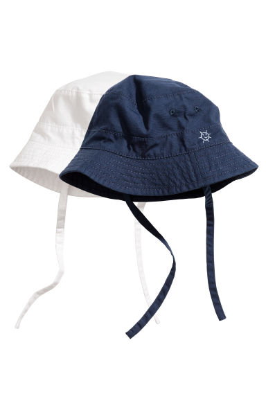 2-pack fisherman's hats - Dark blue - Kids | H&M