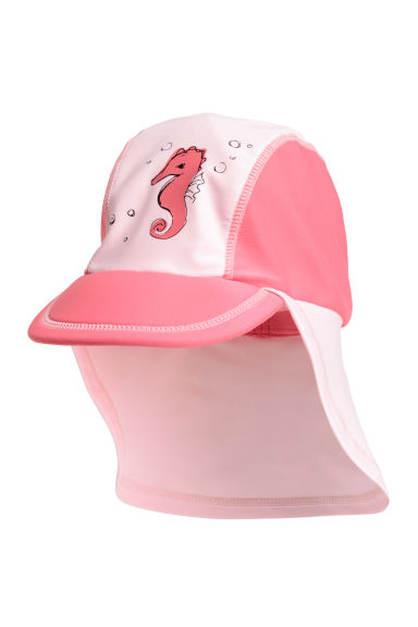 Sun cap with UPF 50 - Light pink/Sea horse - Kids | H&M CN 1