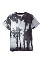 Printed T-shirt - Light grey/Palms - Kids | H&M CN 2