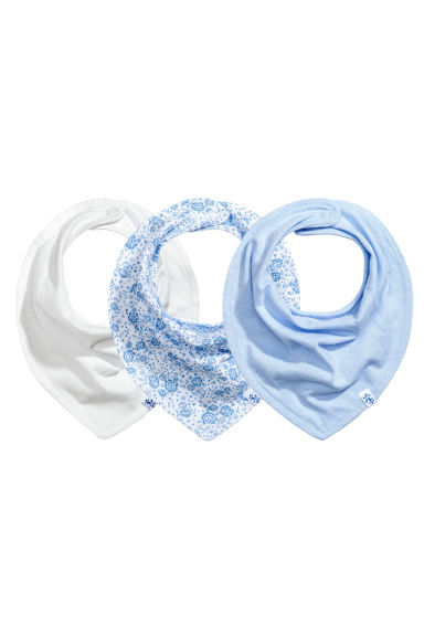 3-pack triangular scarves - Light blue - Kids | H&M