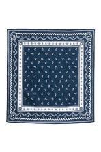 Patterned scarf - Dark blue/Anchor - Kids | H&M CN 2