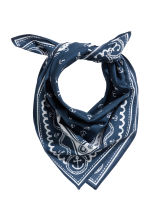 Patterned scarf - Dark blue/Anchor - Kids | H&M CN 1