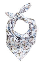 Patterned scarf - White/Butterflies - Kids | H&M 1