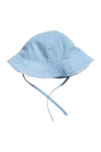 Sun hat with ties - Light blue - Kids | H&M 1