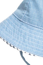 Sun hat with ties - Light blue - Kids | H&M 2