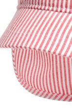 Sun cap - Coral/White/Striped -  | H&M 2
