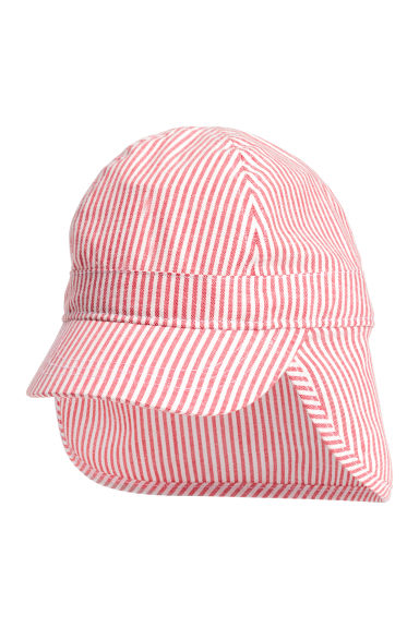 Sun cap - Coral/White/Striped -  | H&M