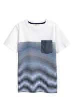 T-shirt - White/Dark blue/Striped - Kids | H&M 2