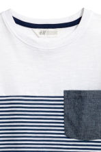 T-shirt - White/Dark blue/Striped - Kids | H&M 3