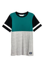 T-shirt - Grey/Petrol green - Kids | H&M 2