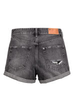 Denim shorts - Dark grey denim - Ladies | H&M CN 3