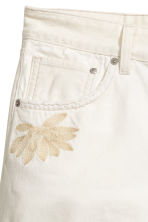 High-waisted denim shorts - White denim -  | H&M 4