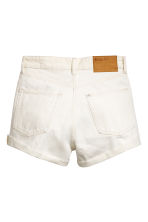 High-waisted denim shorts - White denim -  | H&M 3