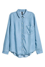Lyocell shirt - Blue/Chambray - Ladies | H&M CN 2