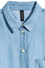 Lyocell shirt - Blue/Chambray - Ladies | H&M CN 3