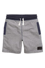 Sweatshirt shorts - Dark blue/Striped -  | H&M 2