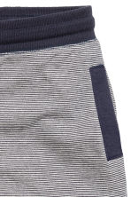 Sweatshirt shorts - Dark blue/Striped -  | H&M 3