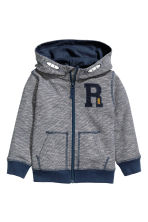 Hooded jacket - Dark blue/Narrow striped - Kids | H&M 2