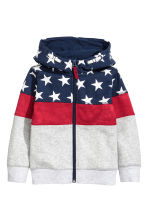 Hooded jacket - Dark blue/Stars -  | H&M 2