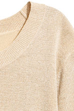 Fine-knit jumper - Light beige - Ladies | H&M 3