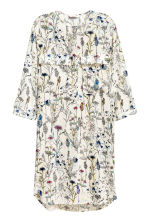 Short dress - Natural white/Floral - Ladies | H&M 2