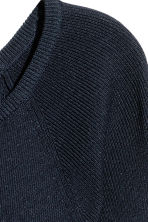 Fine-knit jumper - Dark blue - Ladies | H&M 3